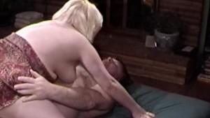Blonde BBW Gets A Mouthful