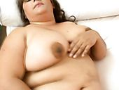 Well Stacked BBW Lola Masturbates In Front Of Aroused Wanker